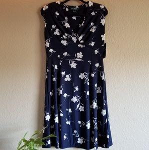 NWT Ralph Lauren Navy Blue Dress Size 10